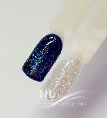UV, LED barevný gel GLITTER RAINBOW